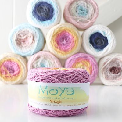 Moya Snugs - 100% textured cotton - Aran/10ply 150gm