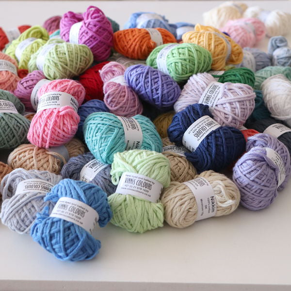 72 Colours of Nikkim 100% Cotton (8ply/DK Light Worsted)