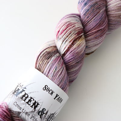 Wren and Ollie Sock Yarn 100gm - Wildflower