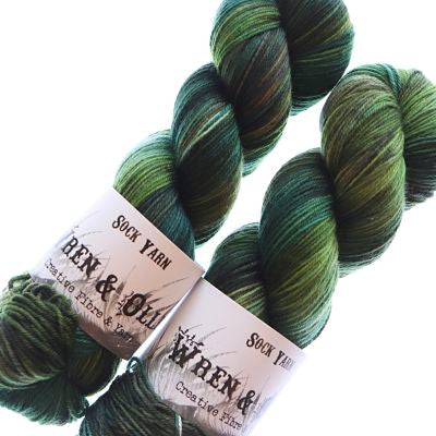 Wren and Ollie Sock Yarn 100gm - Eucalypt