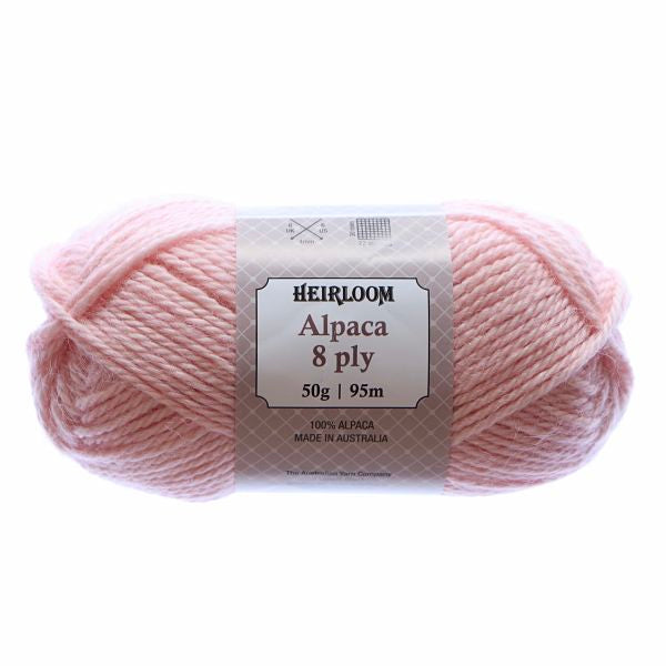 Heirloom Alpaca 8ply Rose Quartz 977