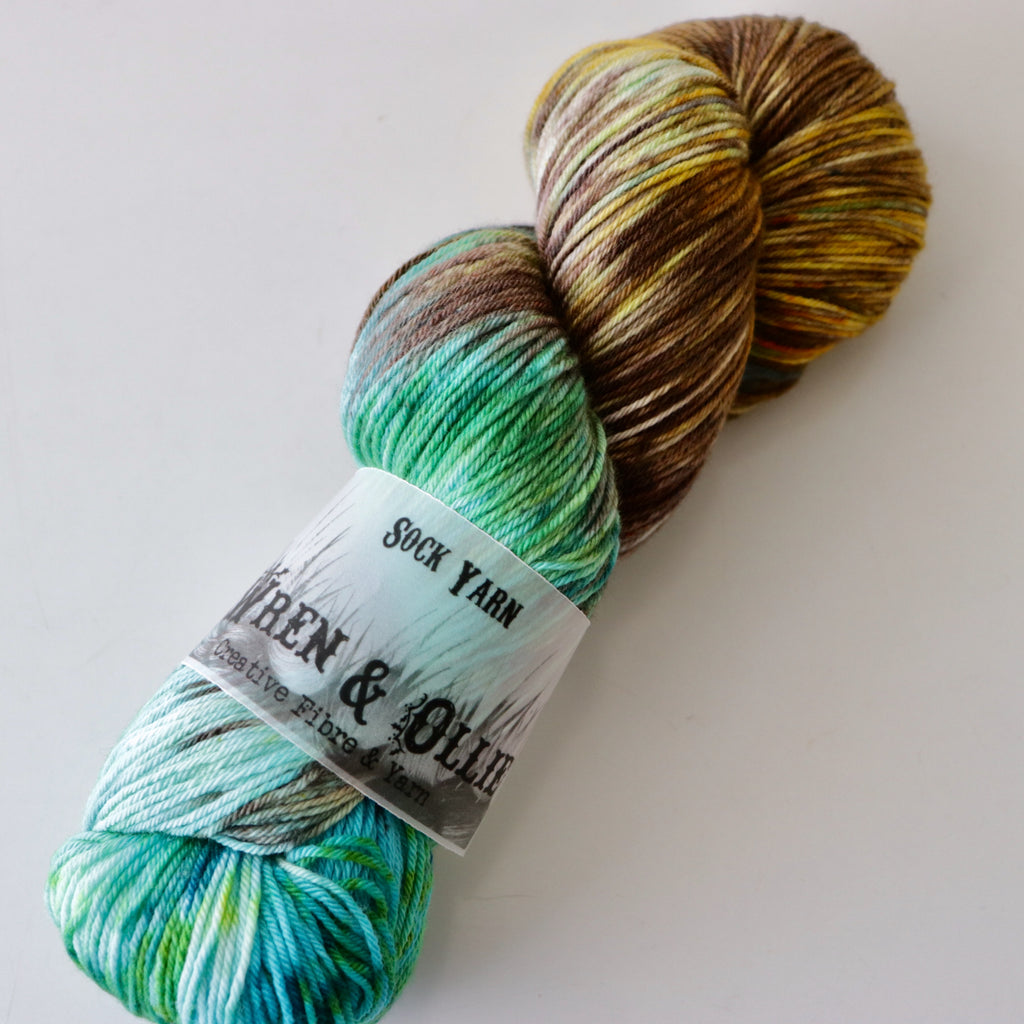Wren and Ollie Sock Yarn 100gm - Patina