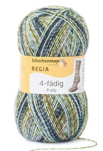 Schachenmayr - Regia Colour 4ply Sock Wool 100gm Sage Multi 4767