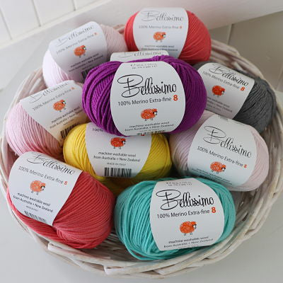 Bellissimo 8 Extra Fine Merino Wool 8ply/DK - Yummy Yarn and co
