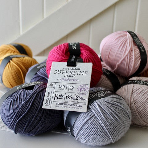 Cleckheaton Australian Superfine Merino 8ply/DK/light worsted - Yummy Yarn and co