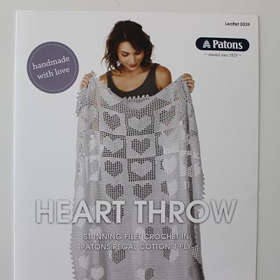 Patons Heart Throw Crochet Pattern