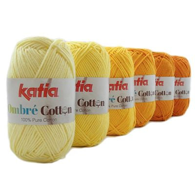Katia Cotton - Ombré Kit 150gm 4ply 100% Cotton