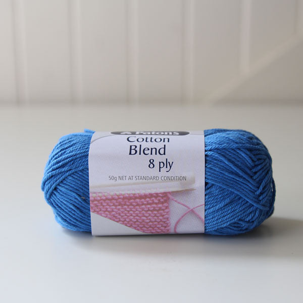 French Blue Patons Cotton Blend