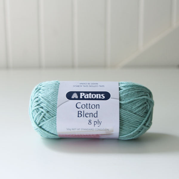 Frosty Green Patons Cotton Blend