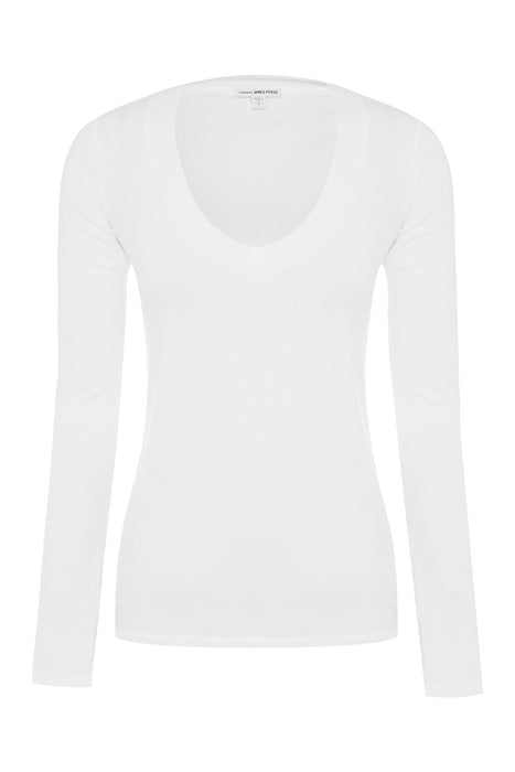 Relaxed Casual Long Sleeve V-Neck T-Shirt