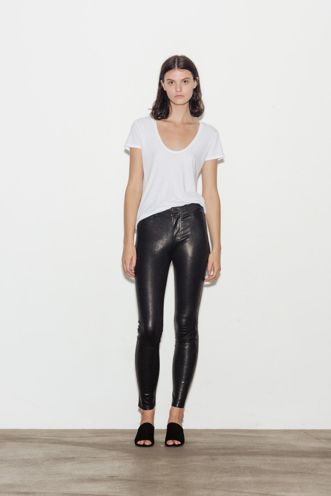 Hoxton Skinny Stretch Leather Pants