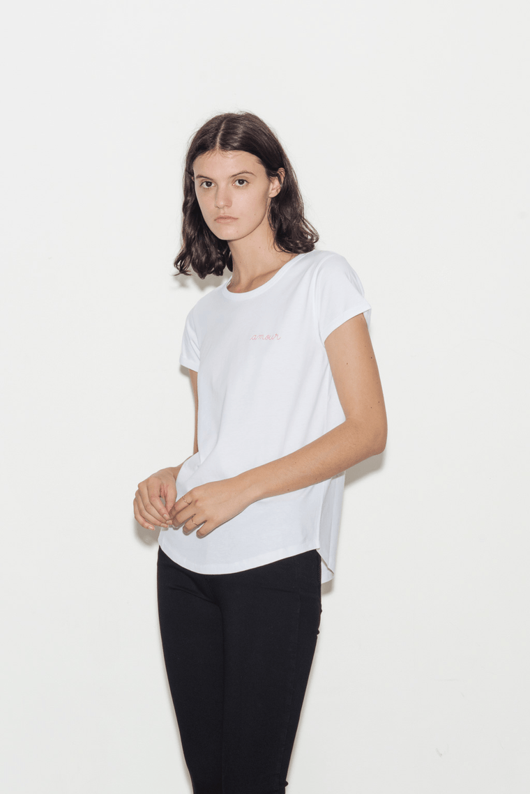 Amour Crew Neck Cotton T-Shirt