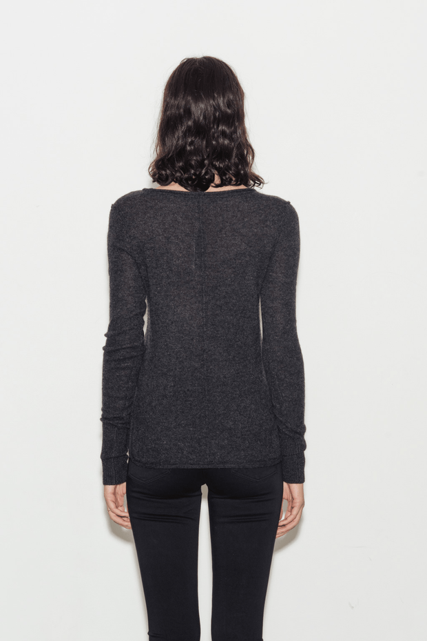 Cashmere Soft V-Neck Knit Sweater - BASICS DEPARTMENT