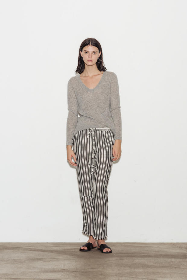 Solid Cashmere V-Neck Sweater