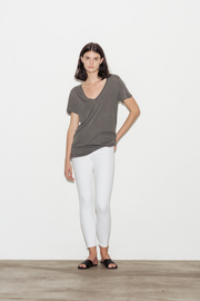 Kiara Modal-Supima Cotton V-Neck T-Shirt