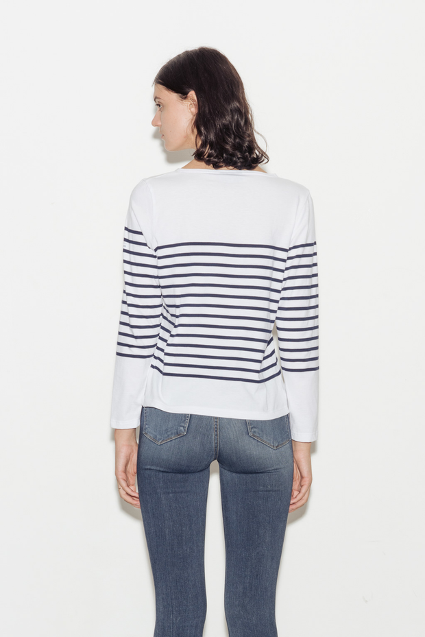 Mediterranee Breton Striped Cotton Top