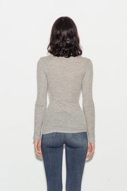 Tubular Cashmere Long Sleeve Top