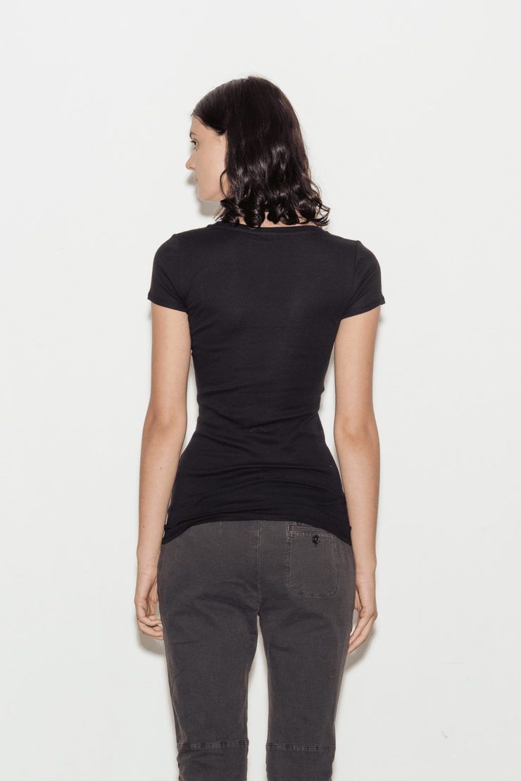 Clothilde Pima Cotton Round Neck T-Shirt
