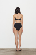 Noir High Waisted Bikini Briefs