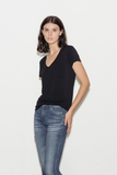 Lynnea Viscose Blend V-Neck T-Shirt