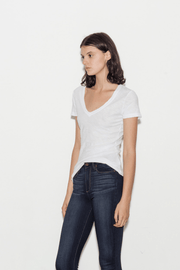 Casual Cotton V-Neck T-Shirt with Reverse Binding - BASICS DEPARTMENT