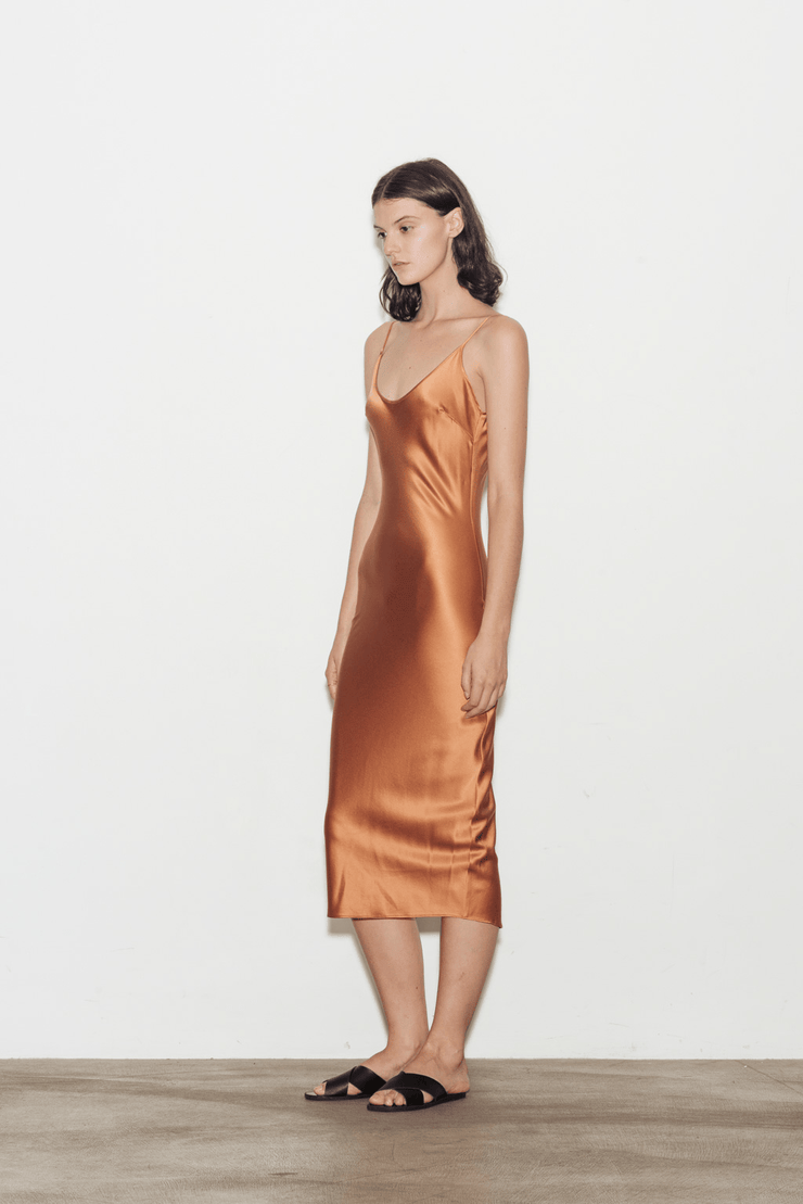 EXCLUSIVE Calla Silk Slip Dress
