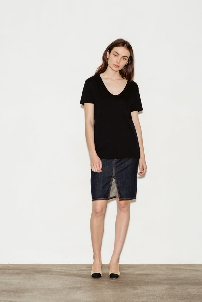 Henson Scoop Neck Cotton Jersey T-Shirt