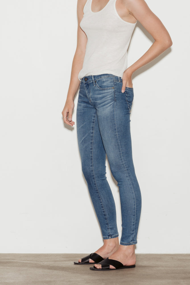 Legging Skinny Ankle Mid Rise Jeans