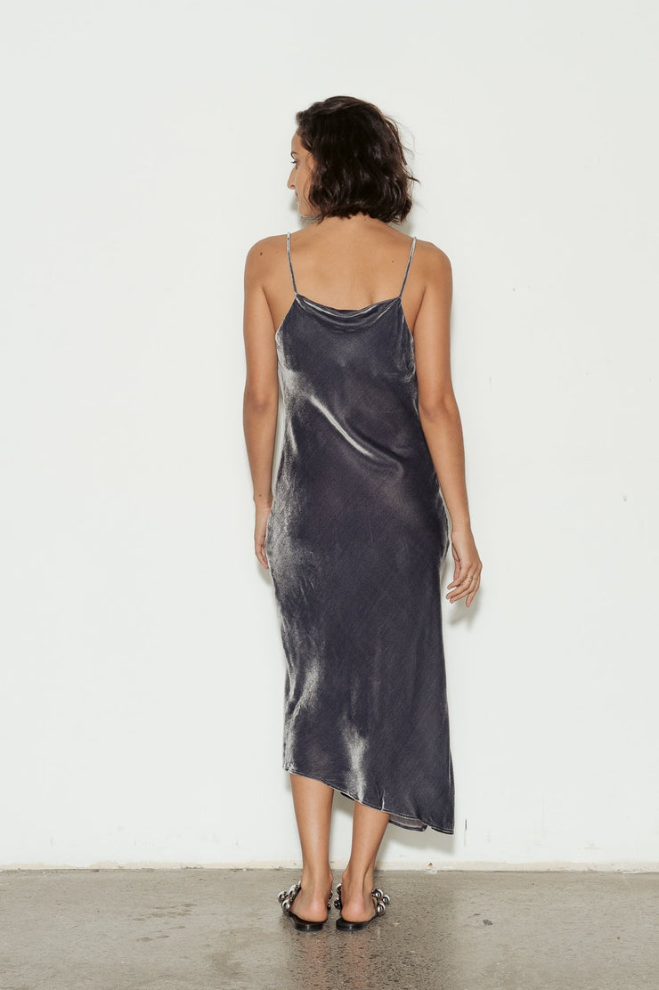 Gia Drape Velvet Dress