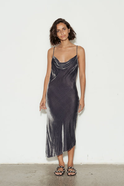 Gia Drape Velvet Dress - BASICS DEPARTMENT