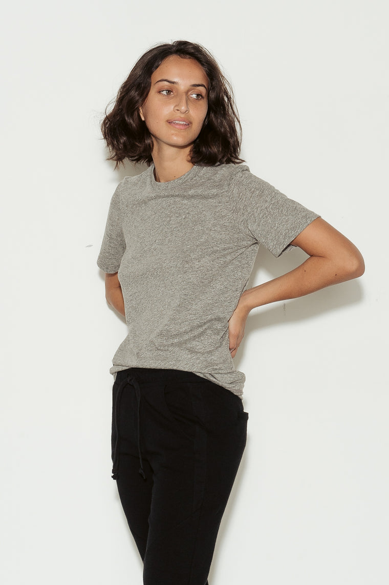 Gray Boy Cotton Crew Neck T-Shirt