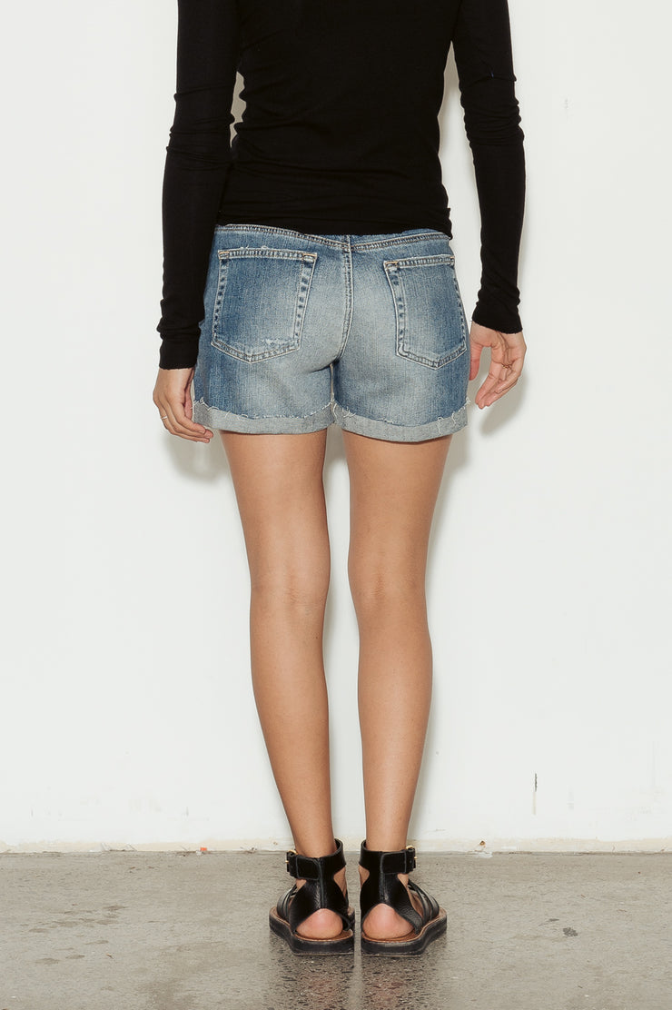 Hailey Distressed Denim Shorts