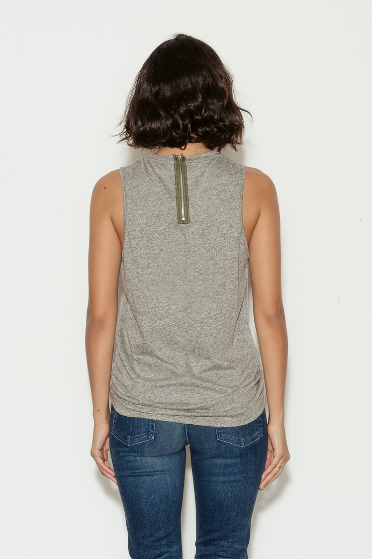 Serena Cotton Zipper Tank