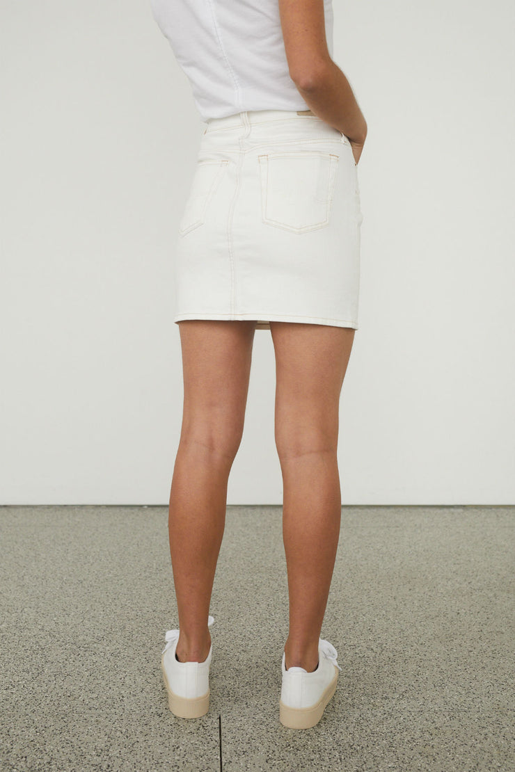 Vera High Waisted Denim Skirt
