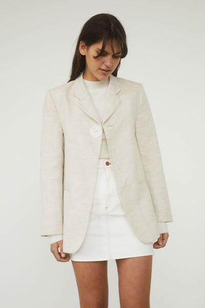 Boy Linen Blazer - BASICS DEPARTMENT