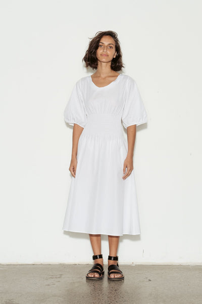 Aurore Shirred Cotton Dress