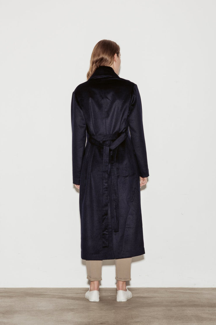 Baroque Belted Wool Coat - BASICS DEPARTMENT