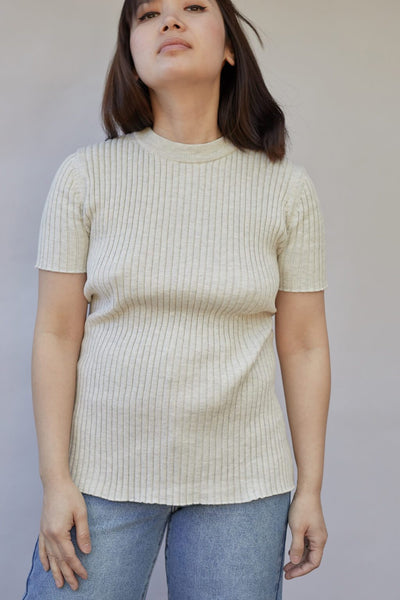 Bebe Cotton Knit Top - BASICS DEPARTMENT