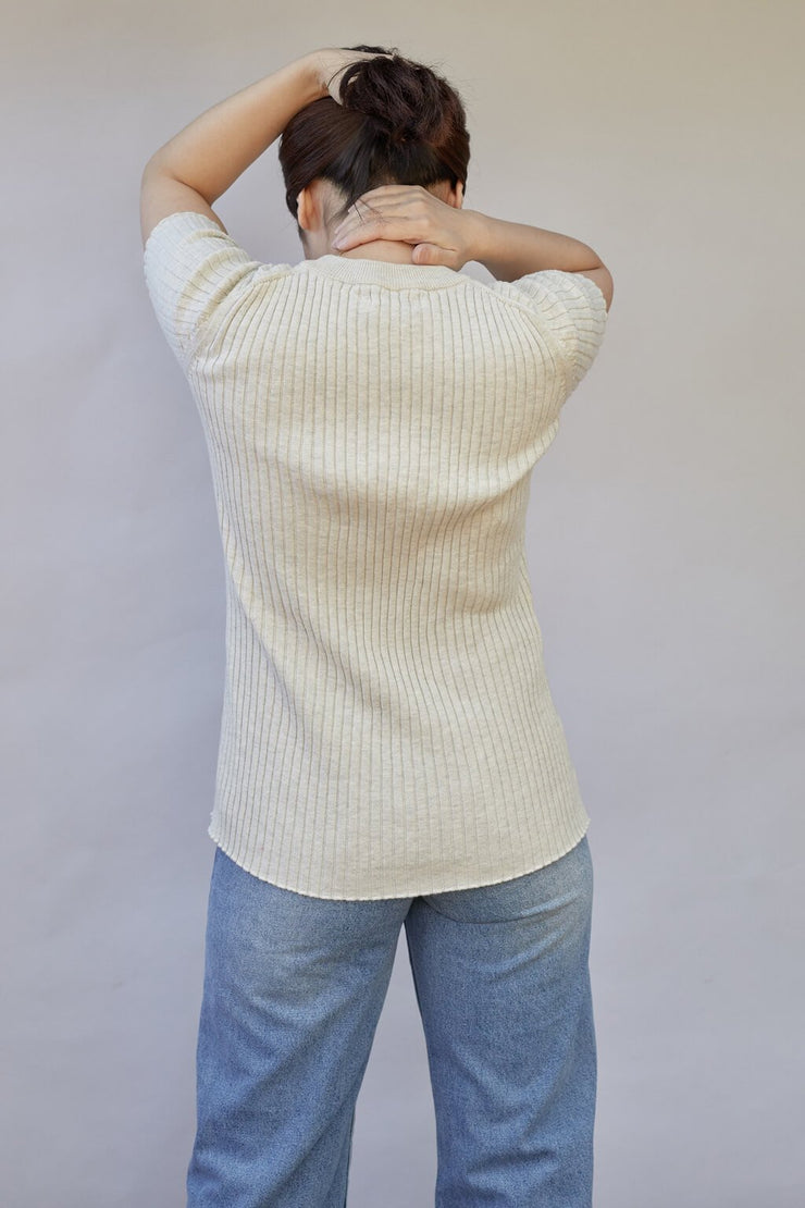 Bebe Cotton Knit Top