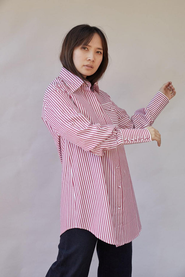 Edie Stripe Cotton Shirt