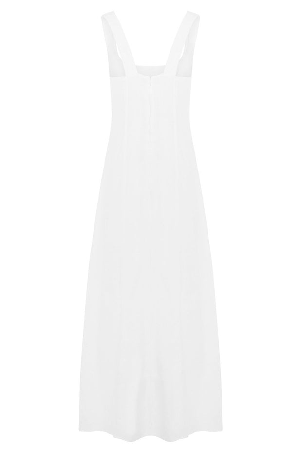 Freya Linen Blend Midi Dress
