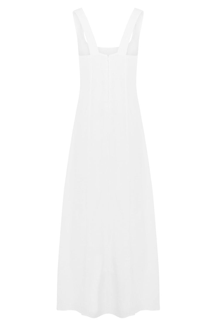 Freya Linen Blend Midi Dress - BASICS DEPARTMENT