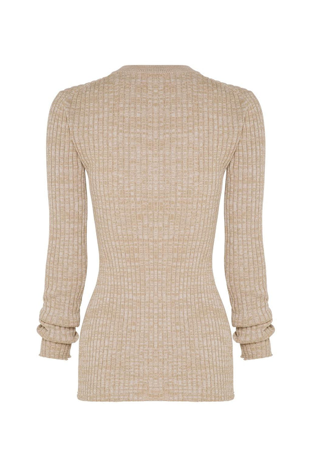 Mika Cotton Rib Knit Long Sleeve Top