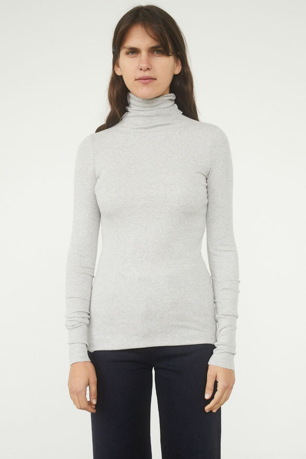 Chels Cotton Rib Turtleneck Top - BASICS DEPARTMENT