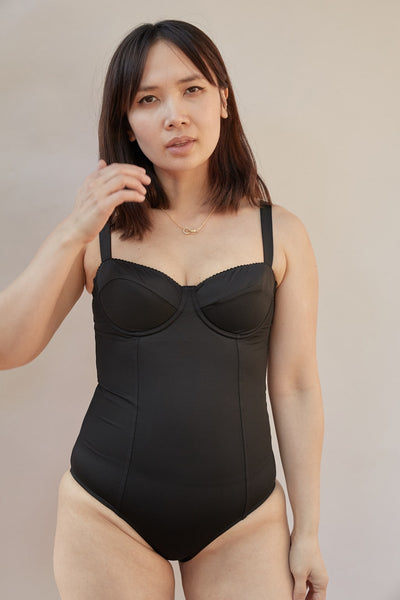 Noir Balconette Swimsuit