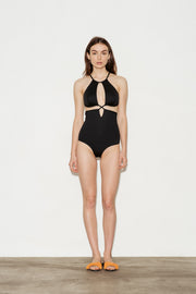 Noir Split Swimsuit