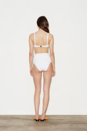 Optical White High Waisted Bikini Briefs