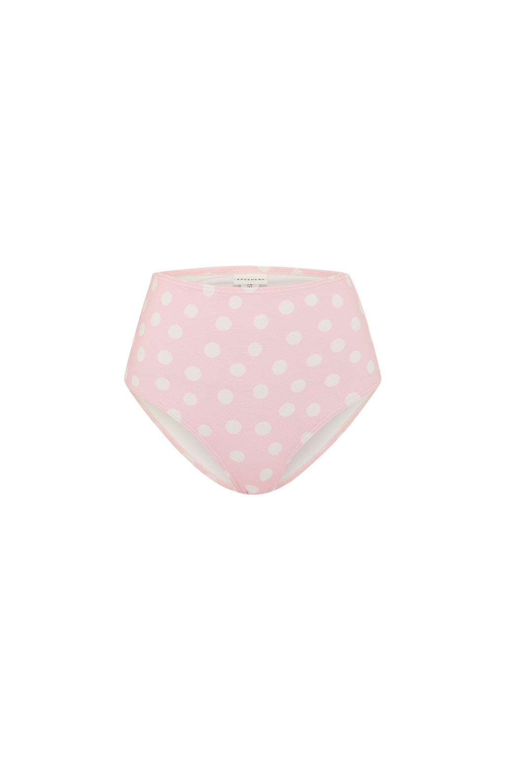 Polka Dot High Waisted Bikini Briefs