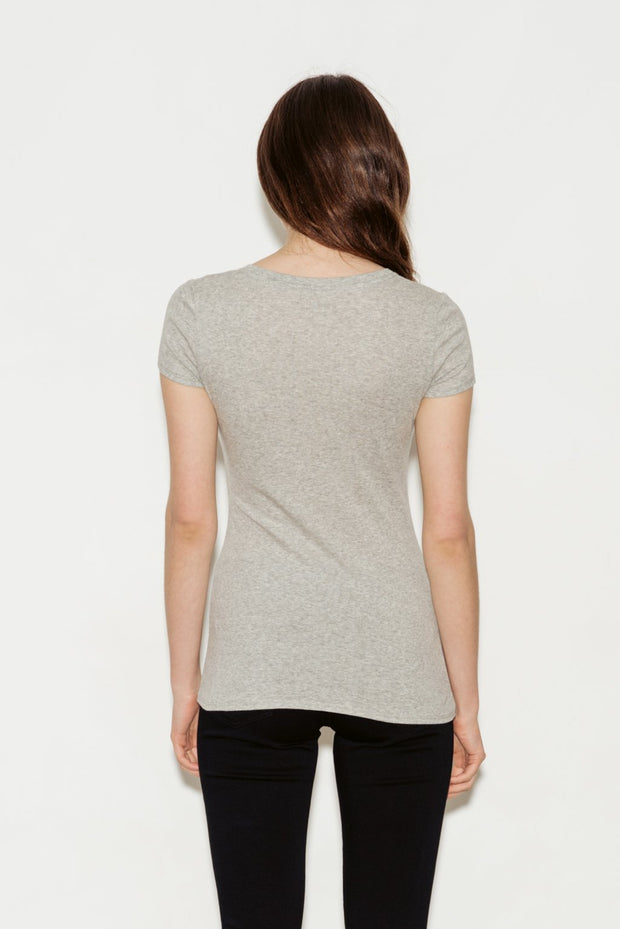 Clemence Pima Cotton V-Neck T-Shirt - BASICS DEPARTMENT