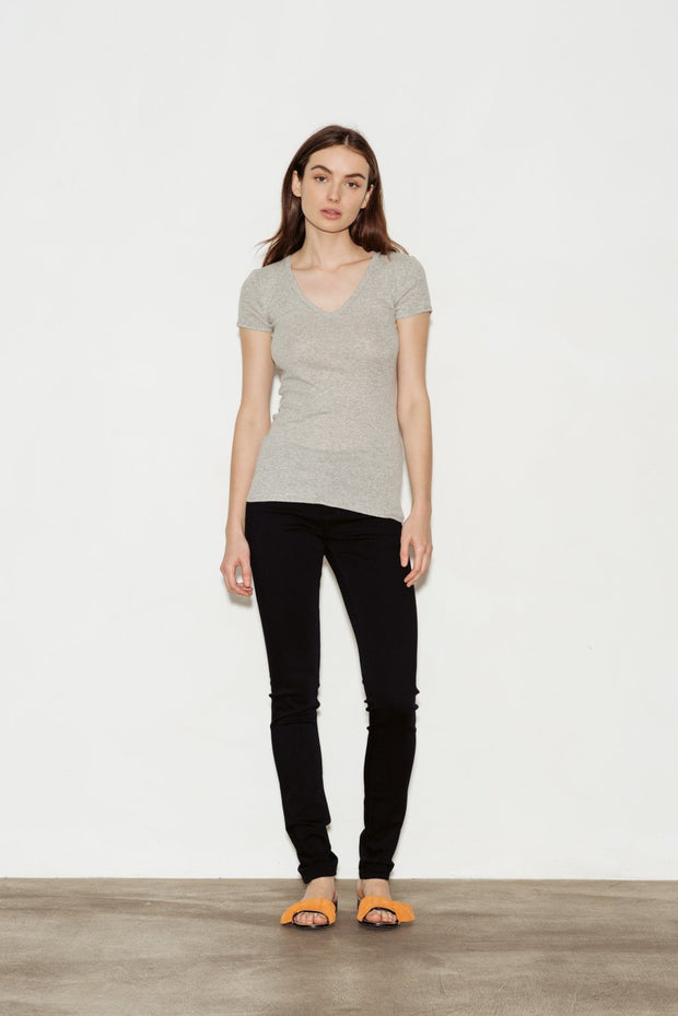 Clemence Pima Cotton V-Neck T-Shirt